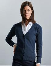 Ladies`V-Neck Knitted Cardigan
