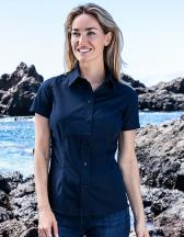 Women`s Poplin Shirt Short Sleeve