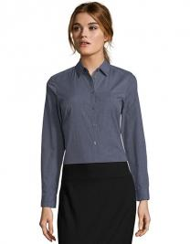 Women`s Long Sleeve Poplin Shirt Barnet