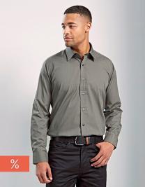 Men`s Long Sleeve Fitted Poplin Shirt