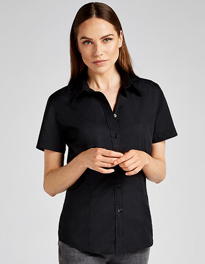 Women`s Classic Fit Workforce Poplin Shirt Short Sleeve